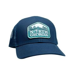 bd9c39e33fd Peach State Pride  North Georgia  Mesh Back Trucker Hat- Navy