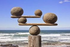The examples you'll find here demonstrate varying degrees of each of the six principles of design. Do your page layouts use all these principles of design? Land Art, Image Zen, Deco Zen, Art Pierre, Rock Sculpture, Family Sculpture, Stone Sculptures, Balance Design, Principles Of Design