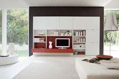 wohnzimmer mit einem schönem schrank einrichten - Wie ein modernes Wohnzimmer aussieht – 135 innovative Designer Ideen