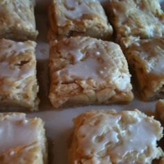 My Grandma's Apple Strudel.this isnt true strudel,,its more of a sheet pan apple pie,, looks good though Apple Desserts, Köstliche Desserts, Apple Recipes, Sweet Recipes, Delicious Desserts, Dessert Recipes, Yummy Food, Bar Recipes, Donut Recipes