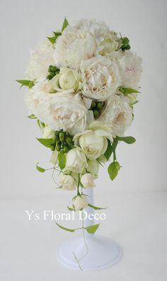 芍薬のキャスケードブーケ @グランドハイアット東京 ys floral deco
