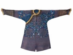 A blue-ground summer gauze court robe, jifu, 19th century