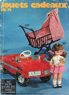 Catalogues de jouets Au bon Marché Paris 1970-71 Vintage Toys, Retro Vintage, Doll Games, Barbie Miniatures, Dolls Prams, Reborn, Barbie I, Old Dolls, Vintage Images