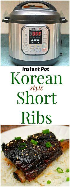Instant Pot Korean Style Short Ribs
