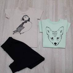 Camisetas y pantalones de algodón orgánico de @igloindi  con algunos de  sus característicos prints como Puffin  un característico pájaro de sus heladas tierras: Islandia.  La camiseta  de color minty green tiene como print a Fox  #nins #ninsmanresa #igloindi #iceland #reykjavik #organiccotton #kidswear #ootd #nordicdesign #childrensfashion #printdesign #print #cotton #ootd #modainfantil #moda #picoftheday #photooftheday #bestoftheday