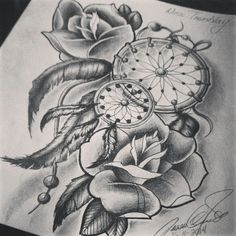 dream catcher drawing - Google Search Yin yang and sand dollar with sunflowers instead