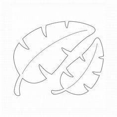Molde de Folha em EVA, Papel, Feltro e Mais: 30 Modelos para Imprimir - Artesanato Passo a Passo! Leaf Template Printable, Felt Crafts, Paper Crafts, Paper Leaves, Jungle Party, Dinosaur Birthday Party, Flower Template, Paper Roses, Craft Patterns