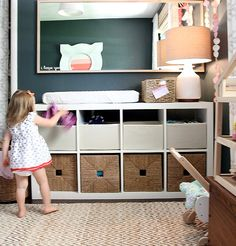 Kinderzimmer ikea kallax  Ikea Kallax hack for baby room | Kinderzimmer | Pinterest | Ikea ...