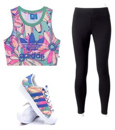 """Sport"" by privezenceva-arina on Polyvore featuring мода, adidas Originals, Jockey и adidas"