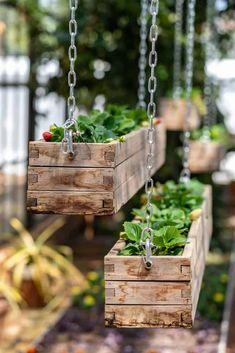 Hanging Planter Boxes, Diy Wood Planters, Planter Box Plans, Wood Planter Box, Window Planter Boxes, Indoor Hanging Planters, Indoor Window Planter, Hanging Window Boxes, Building Planter Boxes