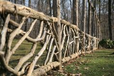I can see this as a rustic dog fence for a log home