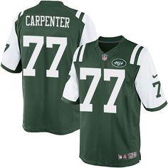 NFL New York Jets James Carpenter Youth Limited Green #77 Jerseys