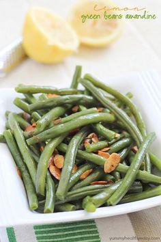 Lemon Green Beans Amandine - Yummy Healthy Easy