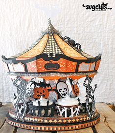 Halloween Party Carousel by Hilary Kanwischer | SVGCuts.com Blog