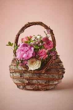 BHLDN Woodland Flower Girl Basket in  Décor View All Décor at BHLDN
