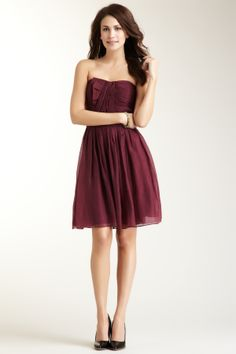 Suzi Chin Pleated Strapless Dress