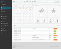 Business Management Web App. by Arron J. Hunt, via dribbble #ui #ux #design.