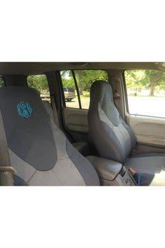 Personalized Monogrammed Car seat covers 2 by Unique2U2 on Etsy, $50.00