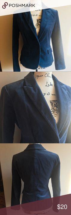 New York & Company Crushed Velvet Blazer Navy Blue New York & Company Crushed Velvet Blazer Navy - size 6. Great condition! New York & Company Jackets & Coats Blazers
