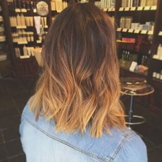 pretty toffee ombre on this lob haircut :: RedBloom Salon