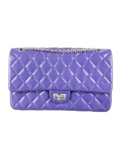Purple quilted leather Chanel 2.55 Reissue