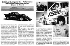 Car 110 - Opel GT Land Speed Racer - World of Speed 9-24-97 - This article from the 1997 World of Speed Program describes how Ellen, through struggles with her battle with cancer came to drive the Bill Ward Opel GT.