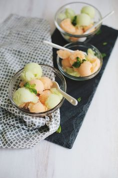 Melon Sorbet: Without an Ice Cream Machine - A BEAUTIFUL MESS