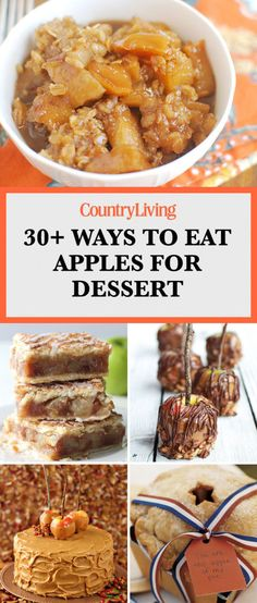 Save these apple dessert recipes for later by pinning this image and follow Country Living on Pinterest for more.