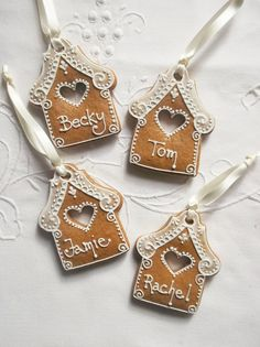 Personalised Gingerbread House Hanging Decoration / Gingerbread House Christmas … – The Best Christmas Cookies Gingerbread House Parties, Gingerbread Decorations, Gingerbread Ornaments, Christmas Gingerbread House, Noel Christmas, Christmas Gift Tags, Christmas Treats, Christmas Baking, Christmas Decorations