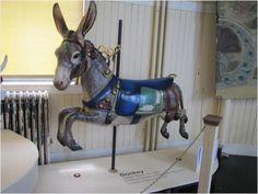 Restored donkey Merry-Go-Round animal