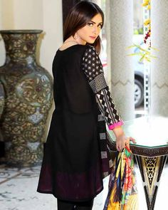 Shirt: Fabric: Embroidered Front with Sleeves, Plain Back. Shalwar/Trousers: Fabric: Embroidered Trouser. Dupatta: Fabric: Silk Dupatta.