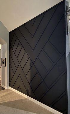 Accent Walls In Living Room, Living Room Decor, Bedroom Decor, Accent Wall Bedroom, Wood Accent Walls, Black Accent Walls, Wall Accents, Home Interior Design, Interior Decorating