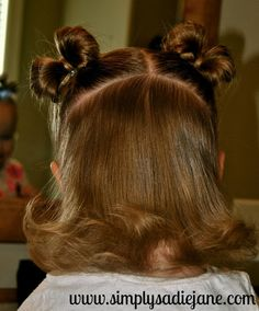 {simply sadie jane}: 22 MORE fun and creative TODDLER HAIRSTYLES!!  I MUST learn how to do the bows!!! Adorable!