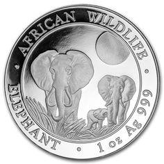 2014 Somalia 1 oz #Silver Elephant 1oz. Pure .9999