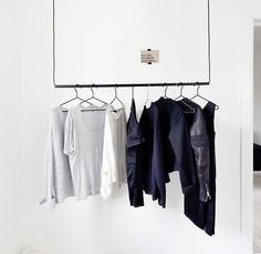 ceiling-hung clothes rack