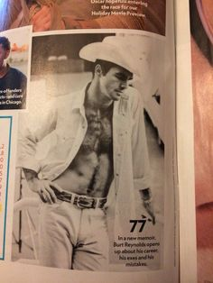 Burt Reynolds memoir BUT ENOUGH ABOUT ME.  Photo from People Magazine.