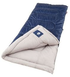 Sleep comfortably, even when it's F outside in the Coleman Brazos Cold Weather Sleeping Bag.Coleman Brazos Cold Weather Sleeping Bag is specially-designed, patented zipper system plows through the fabric to avoid snags, even around the bottom corner. Best Camping Gear, Tent Camping, Outdoor Camping, Camping Hacks, Camping Ideas, Outdoor Travel, Outdoor Gear, Camping Lights, Camping Stuff