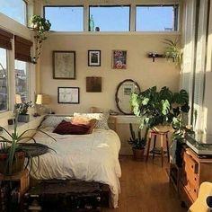 Dream Rooms, Dream Bedroom, Room Ideas Bedroom, Bedroom Decor, Bedroom Inspo, Wall Decor, Indie Room, Aesthetic Room Decor, Aesthetic Plants