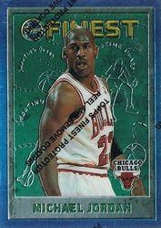 Michael Jordan Cards - 1995-96 Topps Finest Michael Jordan Base Card