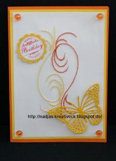 Fadengrafik mit Schmetterling - Kreatives Allerlei