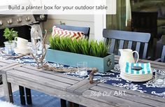 build a planter box for your table