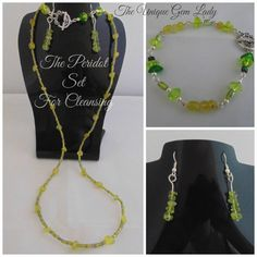 Hand Crafted Ooak Peridot Gemstone Necklace by TheUniqueGemLady