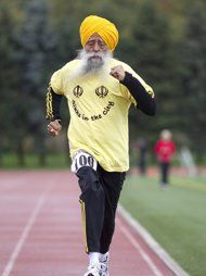 Inspiration: first 100 yr old to finish a marathon (his first marathon was at age 89)