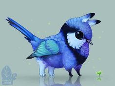 Auction: Splendidling by nybird on DeviantArt Cute Fantasy Creatures, Mythical Creatures Art, Forest Creatures, Mythological Creatures, Cute Creatures, Magical Creatures, Creature Concept Art, Creature Design, Cute Animal Drawings