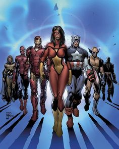 New Avengers 7 Cover. #NewAvengers #Avengers #TheAvengers #AvengersAssemble #EarthsMightiestHeroes #Superheroes #CaptainAmerica #SteveRogers #IronMan #TonyStark #SpiderMan #SpiderManHomecoming #SpiderWoman #JessicaDrew #TheSentry #RobertReynolds #LukeCage #CarlLucas #Wolverine #Logan #Superheroes #MarvelUniverse #MarvelNOW #MarvelComics #Marvel #ComicBooks #Comics #BrianMichaelBendis #DavidFinch #ComicsDune