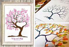 20 Creative Guest Book Ideas For Wedding Reception. Some things could be used for b-day, retirement party ect