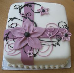 Mini cake (12 × 12 cm), all decorations are made of fondant.