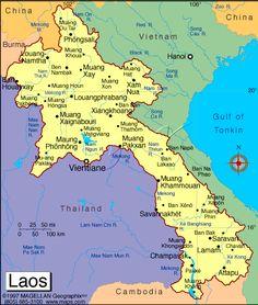Laos Map    17/09/2016 5:02:24 AM GMT http://www.vntimes.info