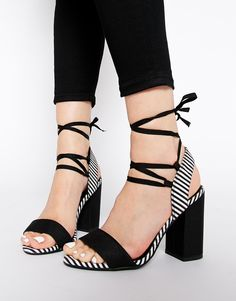Love the strappy detail on these monochrome heels : http://asos.do/uVHjmS