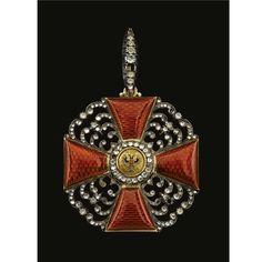 A Sash Badge of the Order of St. Anne, Civil Division, First Class, attributed to Karl Hahn, St. Petersburg, circa 1910.